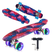 06 - Geelife 22 Complete Mini Cruiser Skateboard for Beginners