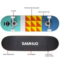 "10 - SAMHUO Skateboards 31"" Pro Complete Skateboard"