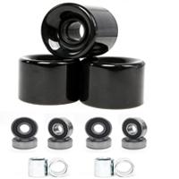 FREEDARE 58mm Skateboard Wheels 82a + ABEC-7 Bearing Steel and Spacers Cruiser