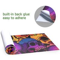 Skull Puttern Skateboard Grip Tape Sheet Scooter Deck Sand Paper